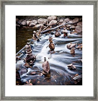 All Stacked Up Framed Print