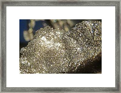Framed Print featuring the photograph All That Glitters Is Definitely Cold by Steve Taylor