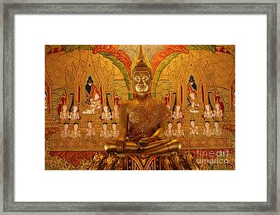 All That Gold Framed Print by Bob Christopher