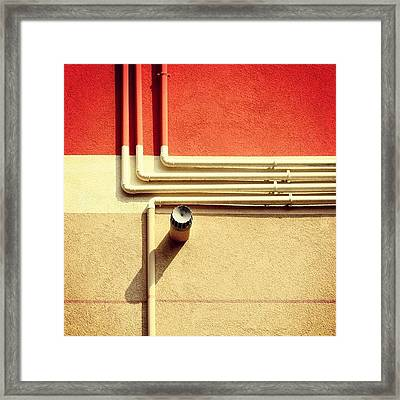 All That Jazz #geometry #color #pipes Framed Print