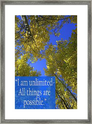 All Things Are Possible Framed Print by Dana Kern