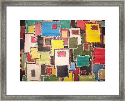 All Things Patches Framed Print by Rachel Carmichael