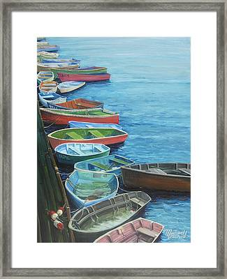 All Tied Up And Wet Framed Print