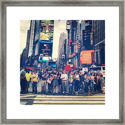 All Walks Of Life Framed Print