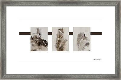 All Winter Abstract Composition  Framed Print by Xoanxo Cespon