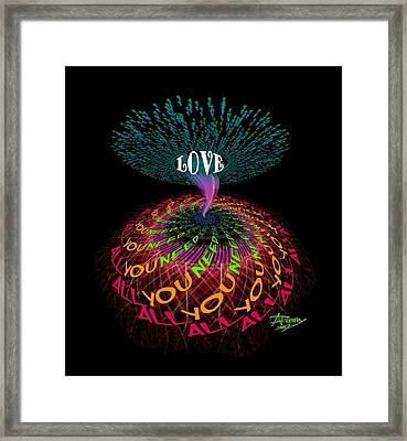 All You Need Is Love B1 Framed Print