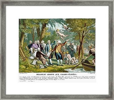 Allegorical Engraving, 1792 Framed Print by Granger