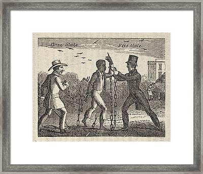 Allegorical Illustration Of A Slave�s Framed Print