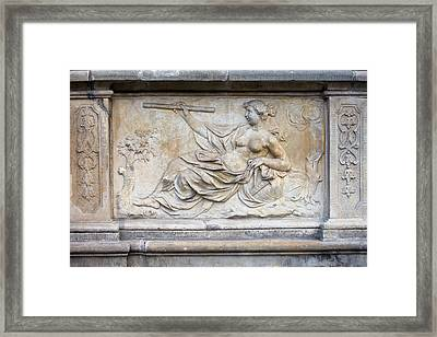 Allegory Of Science Relief Framed Print