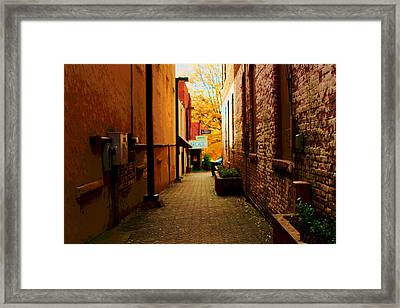 Alley Arcade  Framed Print