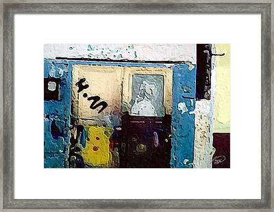 Alley Entrance Framed Print by ABA Studio Designs