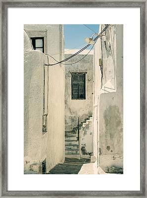 alley in Greece Framed Print by Joana Kruse