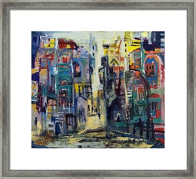 Alley In Jerusalem Framed Print by Naftali Salomon