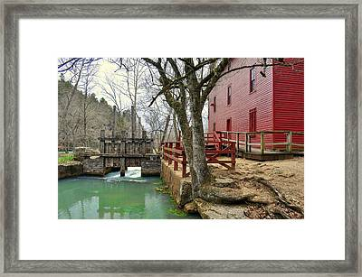 Framed Print featuring the photograph Alley Spring Mill 34 by Marty Koch