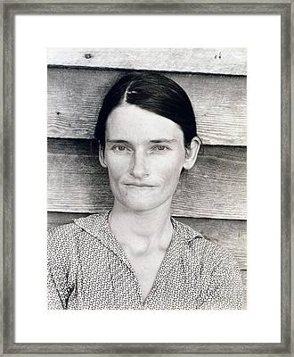 Allie Mae Burroughs, Wife Of Floyd Framed Print