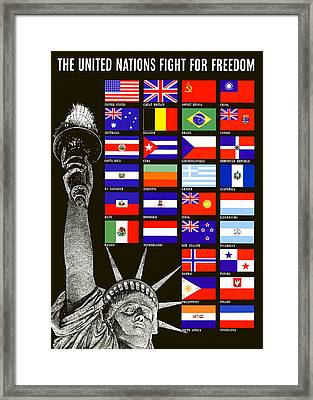 Allied Nations Fight For Freedom Framed Print