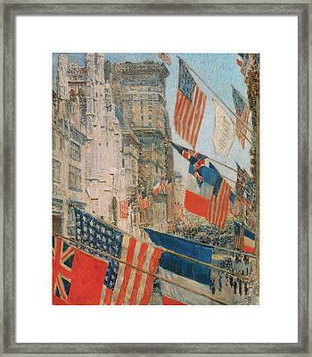 Allies Day Framed Print by Frederick Childe Hassam