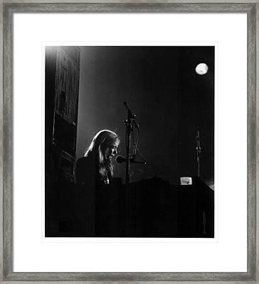 Allman Brothers Greg Allman In Concert Framed Print