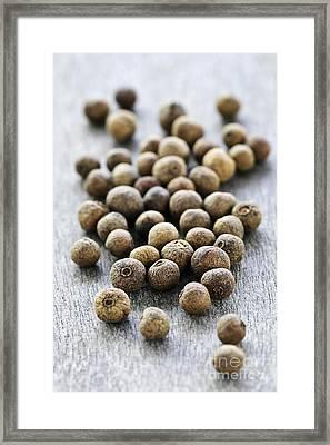 Allspice Berries Framed Print by Elena Elisseeva