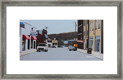 Allston And Madison Framed Print by Dan Lockaby