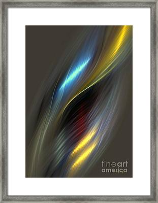 Alluring Colors Framed Print