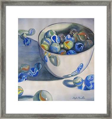 Almost Contained Framed Print