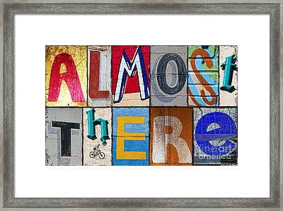 Almost There Framed Print by Elena Nosyreva