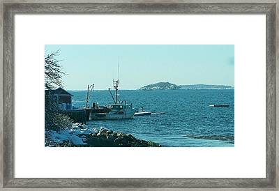 Almost Time To Go Fishing. Framed Print