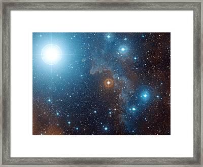 Alnilam Star (epsilon Orionis) Framed Print by Davide De Martin