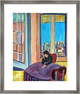 Alone Framed Print by Betty Pieper
