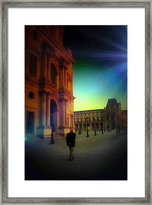 Alone In Paris Framed Print