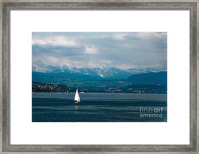 Alone In The Middle  Framed Print by Syed Aqueel
