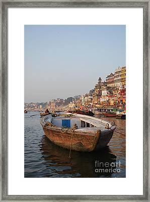 Alone On The Ganges Framed Print