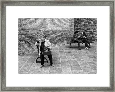 Alone Together Framed Print by Michael Avory