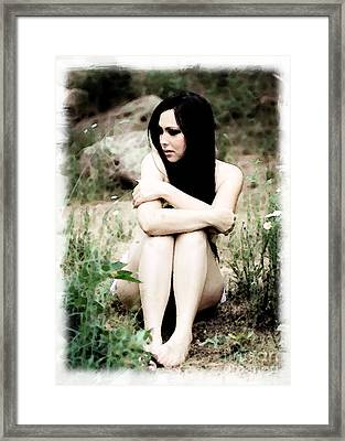 Alone Framed Print by Val Armstrong
