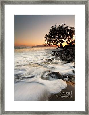 Alone With The Sea Framed Print by Mike  Dawson