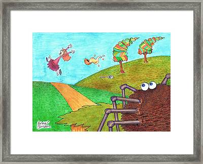 Along Came A Spider Framed Print by Kerina Strevens