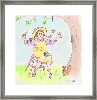 Along Came A Spider Little Miss Muffet Framed Print