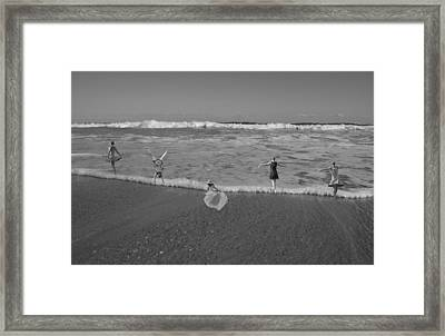 Along Each Wave Framed Print by Betsy Knapp
