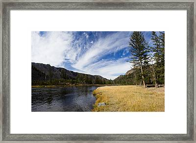 Along The Banks Of The Madison River Framed Print by Twenty Two North Photography