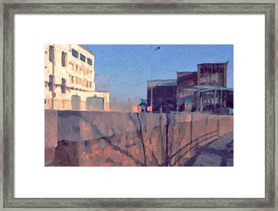 Along The Bassin Framed Print