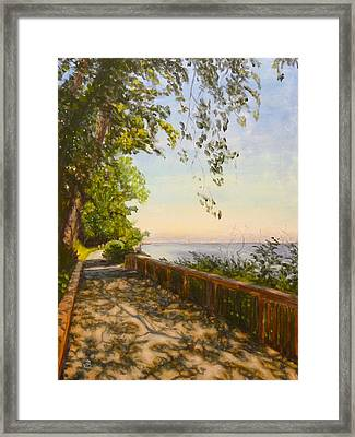 Along The Bay Framed Print