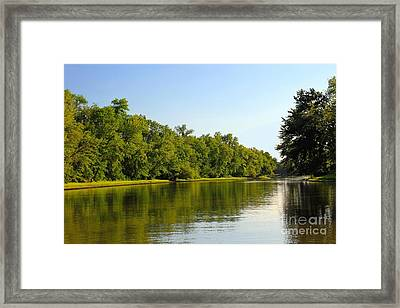 Along The Canal Framed Print by Sophie Vigneault