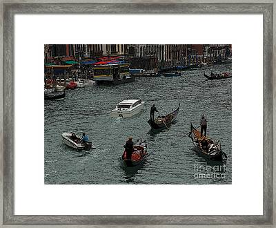 Framed Print featuring the photograph Along The Canal by Vivian Christopher