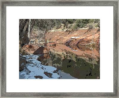 Along The Creek Framed Print by Sandy Tracey