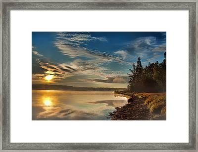 Along The Edge Framed Print by Gary Smith