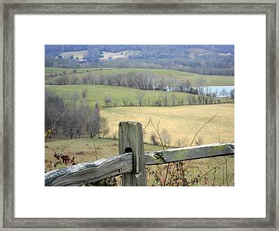 Along The Natchez Trace Framed Print by Jimmie Roberson
