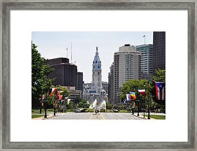 Along The Parkway In Philadelphia Framed Print