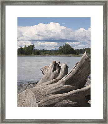 Along The River Framed Print by George Hawkins