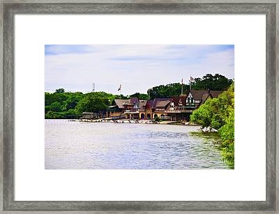 Along The Schuylkill River At Boat House Row Framed Print by Bill Cannon